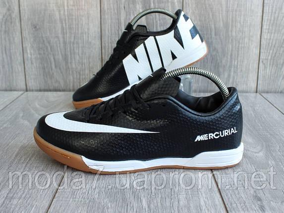 3b4d24f8 Подростковые футзалки - бампы Nike Mercurial черные 36-41р реплика, фото 2