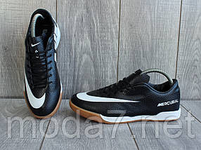 Мужские футзалки - бампы Nike Mercurial черные 41-45р реплика, фото 2