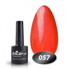 Гель-лак Nice for you № 57 (розово-коралловый с микроблеском), 8,5 мл