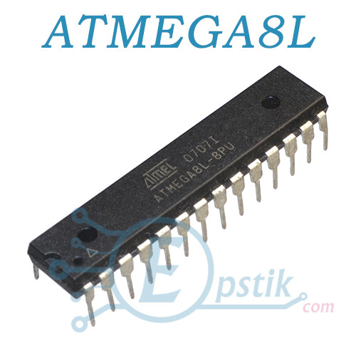 ATMEGA8L-8PU, микроконтроллер 8бит, 16МГц, 8КБ Flash, DIP28