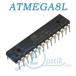 ATMEGA8L-8PU, мікроконтролер 8бит, 16МГц, 8КБ Flash, DIP28