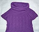 Туника вязаная с коротким рукавом фиолетовая (р. 128-164 см)(Incity, Турция), фото 2