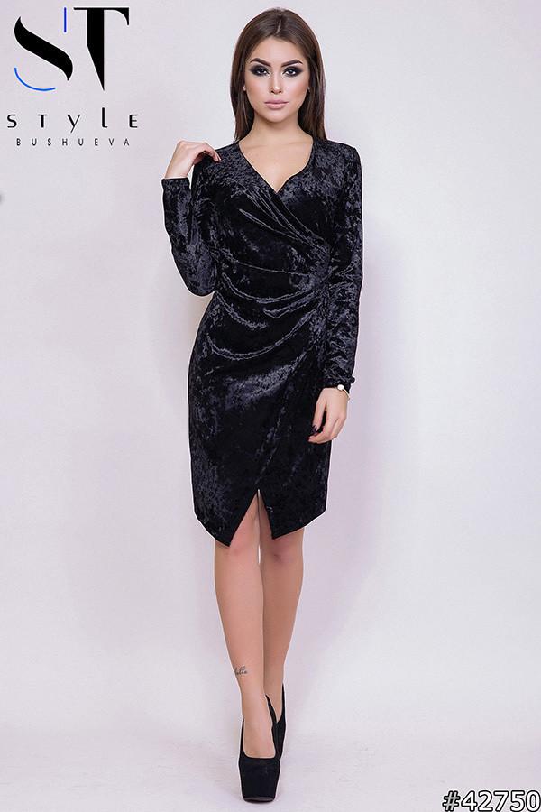Роскошное велюровое платье стильного кроя Производитель Одесса