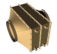 Утилизатор тепла дымовых газов для газовых жаротрубных котлов Колви 600-650  УТ-1