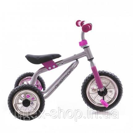 Трехколесный велосипед Profi Trike M 0688-1 Серо-розовый, фото 2