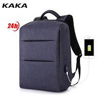 Синий мужской рюкзак для повседневной жизни, прогулки, школы, фото 1