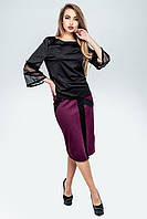 Молодежная юбка Анабель бордо (44-54), фото 1