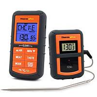 Беспроводной термометр (до 100 м) ThermoPro TP-07S (0…+300 °С) в прорезиненном корпусе