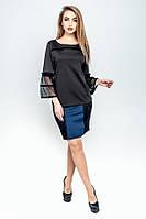 Короткая юбка  Лолита синий (44-52), фото 1