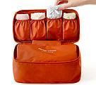 Органайзер для бюстгальтера и нижнего белья - футляр для косметики и туалетных принадлежностей (оранжевый), фото 2