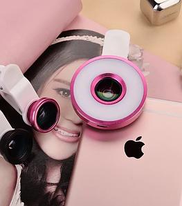 Линзы для телефонов (Multi Led Lens) с LED подсветкой для селфи