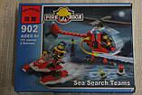Конструктор BRICK арт 902 Пожежна тривога, вертоліт, 111 дет, фігурки, в коробці, 18-14-4,5 см, фото 2