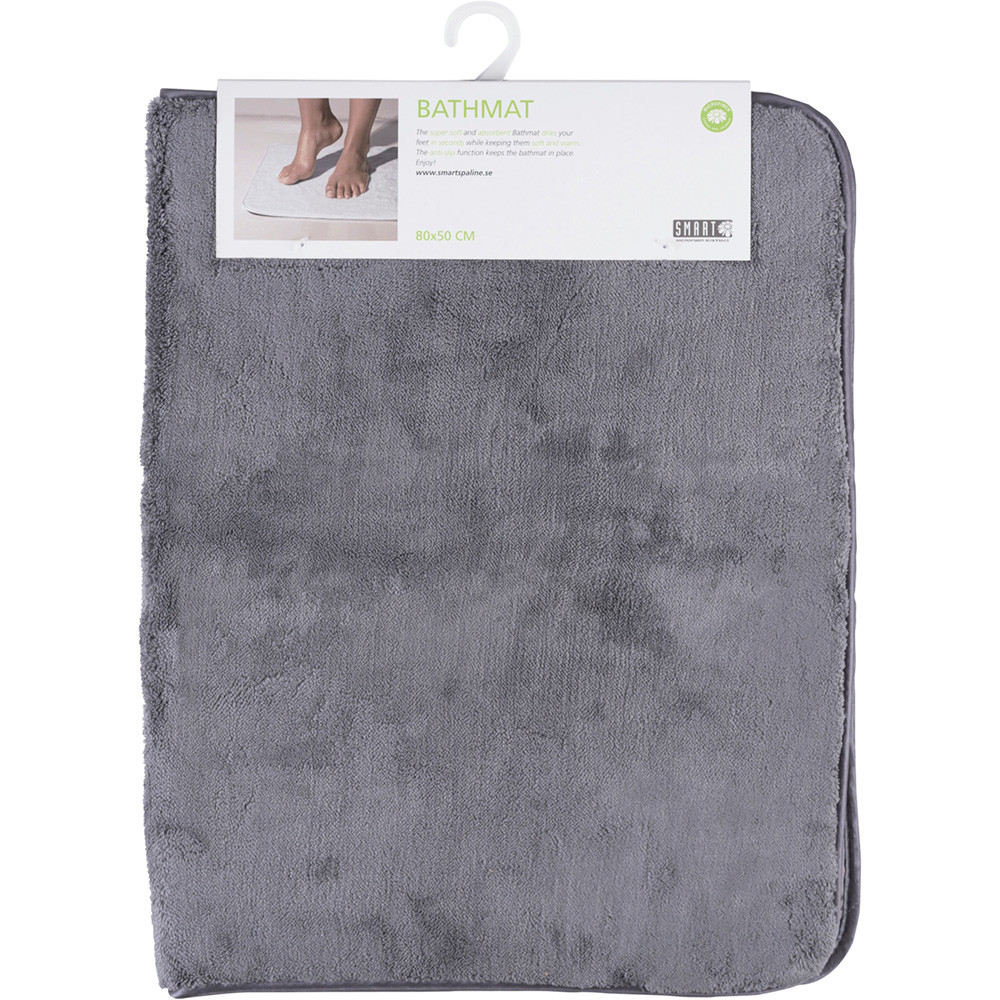 Коврик для ванной SMART Microfiber System 80*50 см, серого цвета