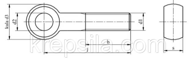 """Болт DIN 444 купить - """"Крепсила"""""""