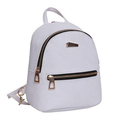 Мини рюкзак молодежный серый.