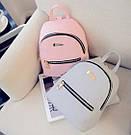 Мини рюкзак молодежный серый., фото 3