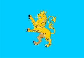 Флаг Львовской области 0,9х1,35 м. для улицы флажная сетка