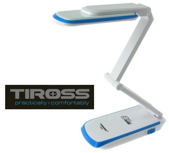 Настольная светодиодная лампа трансформер Tiross TS-56 Blue аккумуляторная 2000 mAh, 220v, 32 smd LED
