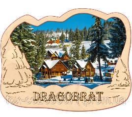 Деревянный магнит, магнит на холодильник Драгобрат