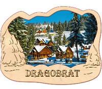 Деревянный магнит, магнит на холодильник Драгобрат, фото 1