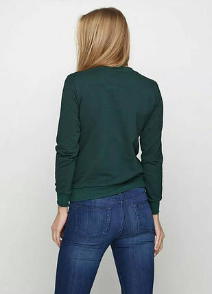 Свитшот женский, темно зеленый, фото 2