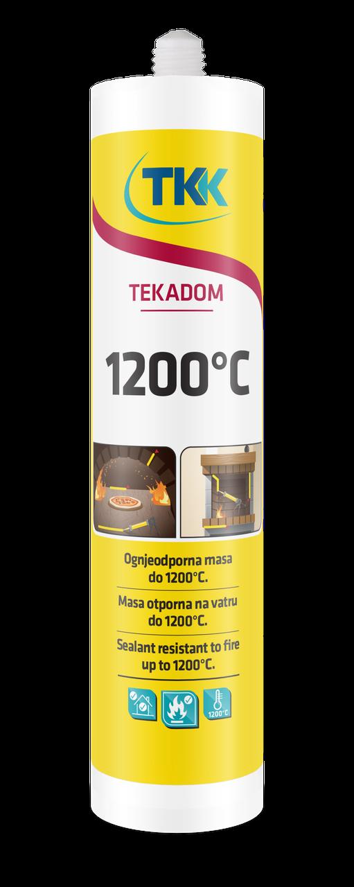 Герметик жаростойкий TEKADOM +1200 C (черный) 300 ml