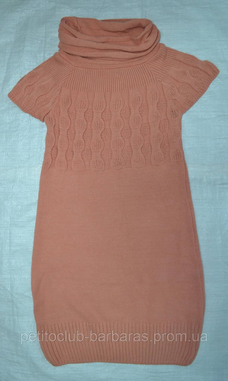 Туника вязаная с коротким рукавом персиковая (Incity, Турция)