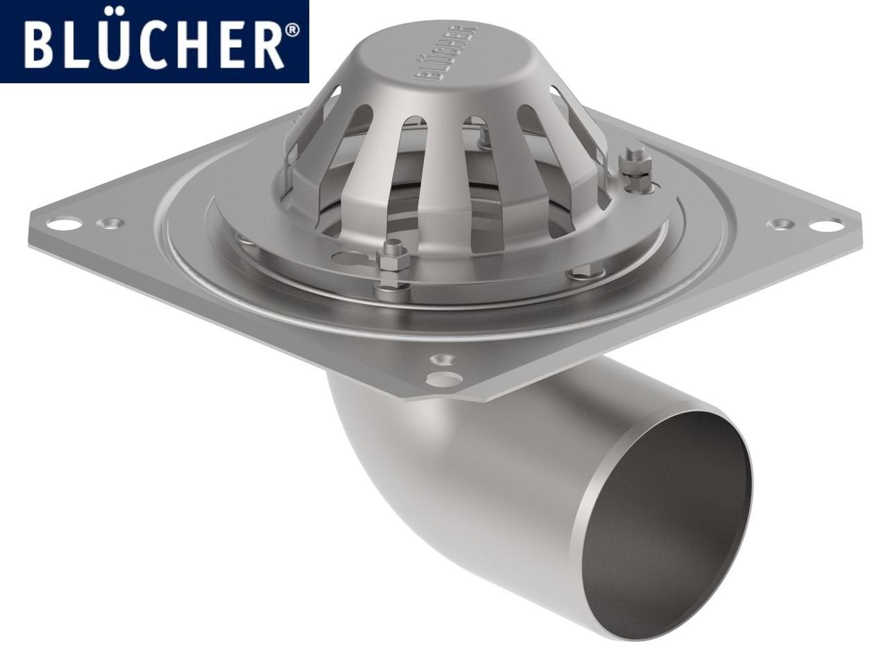 Покрівельна воронка з нержавіючої сталі BLUCHER, горизнтальный випуск DN110  арт.402.100.110