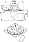 Покрівельна воронка з нержавіючої сталі BLUCHER, горизнтальный випуск DN110  арт.402.100.110, фото 2