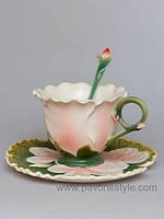 Фарфоровая чайная пара Герань (Pavone)