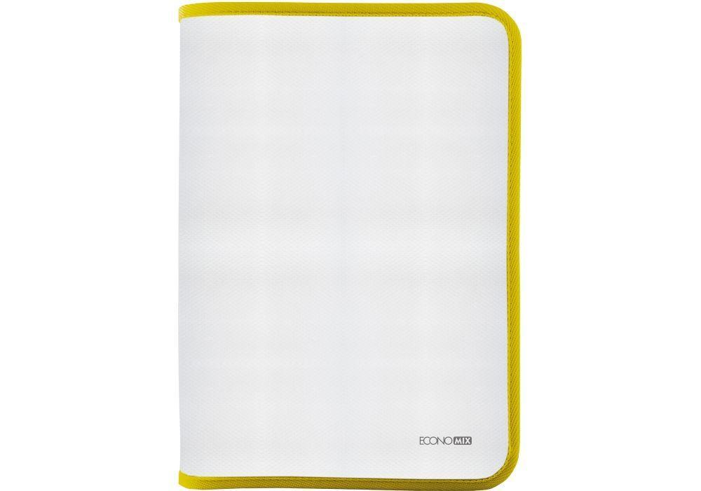 Папка пластиковая на молнии А4 Economix Е31644-05, желтая