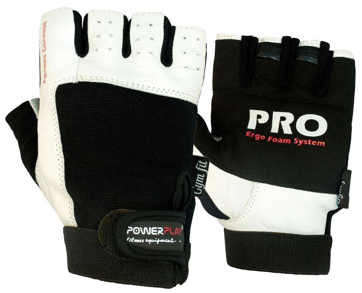 Рукавички для фітнесу PowerPlay 1561 Чорно-Білі L