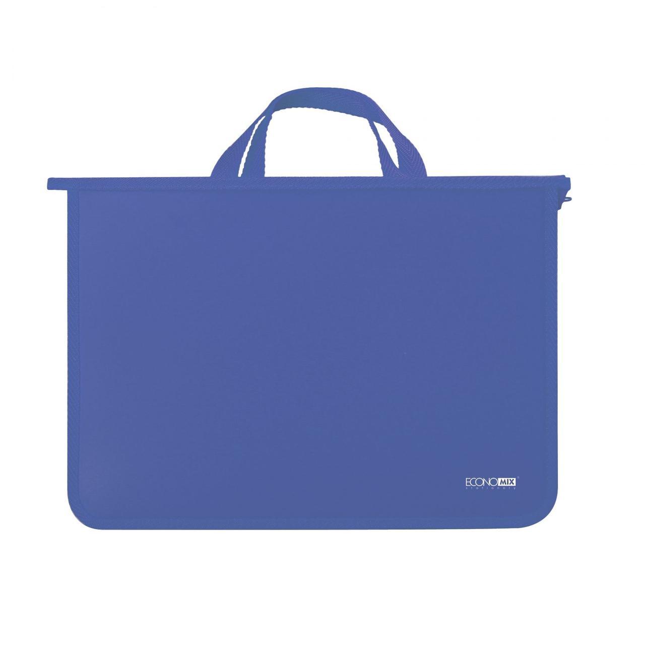 Папка - портфель Economix Е31630 А4 пластиковый, 2 отделения, синяя