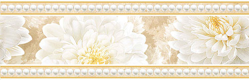 Бордюр Интеркерама Элеганс настенный 230*95 Intercerama Elegance БШ 81 021 для ванной,кухни.