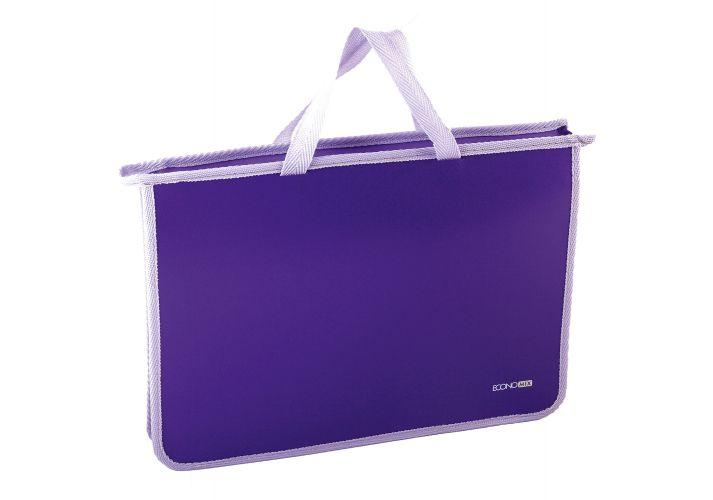 Папка - портфель Economix Е31630 А4 пластиковый, 2 отделения, сиреневый