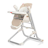 Стульчик для кормления бежевый питание от сети и батареек CARRELLO Triumph 10302/1 деткам от рождения до 3 лет