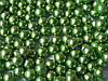Кульки декоративні,зелений металік d 4 мм. 10г/уп