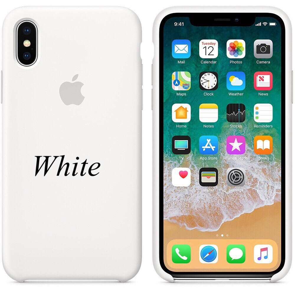 "Apple silicon case iPhone X  ""White"""