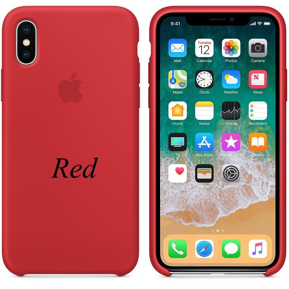 "APPLE SILICON CASE IPHONE X ""RED"""
