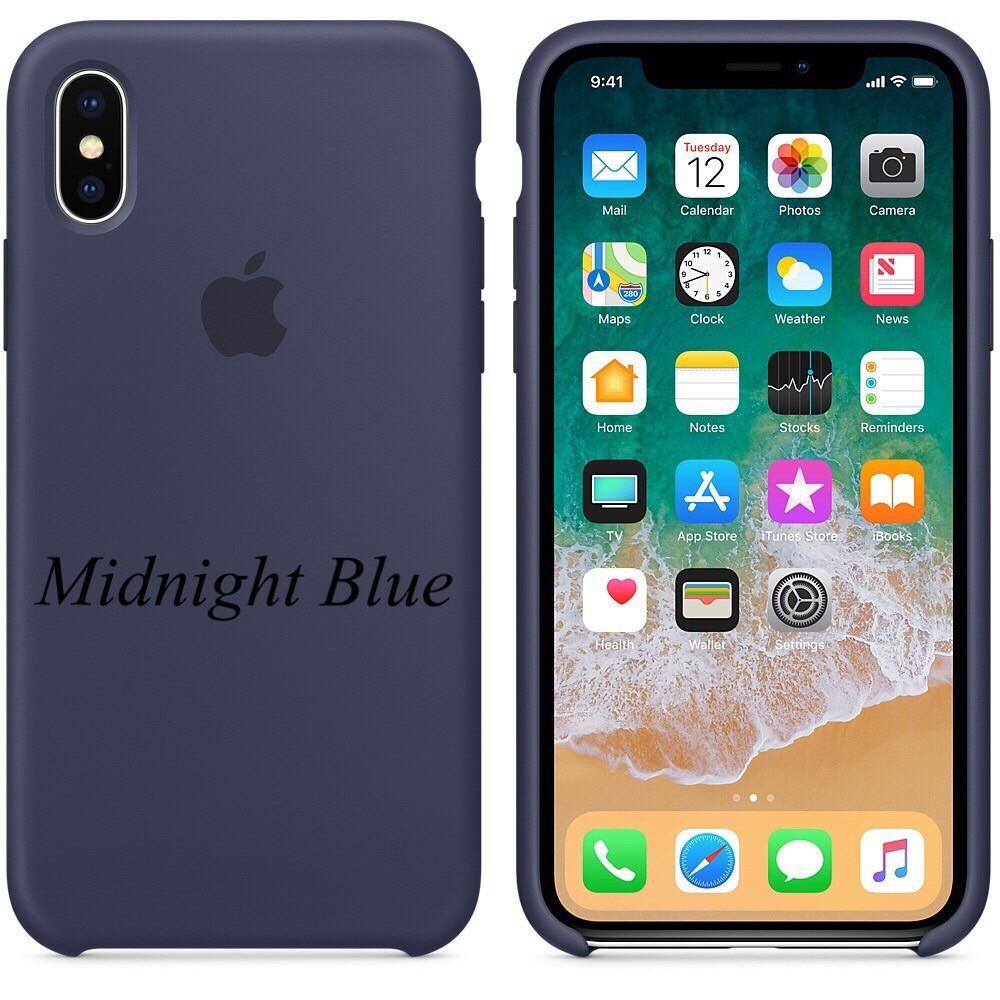"APPLE SILICON CASE IPHONE X "" MIDNIGHT BLUE """
