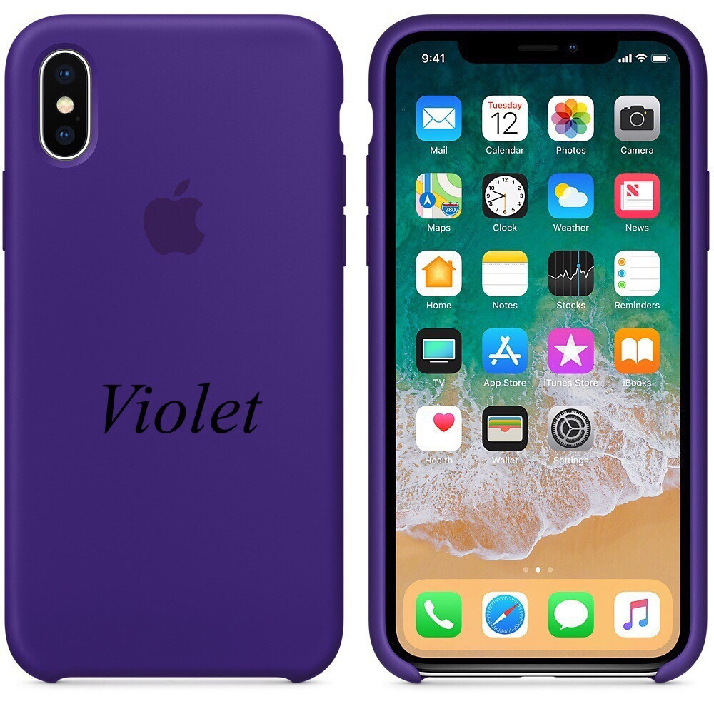 """APPLE SILICON CASE IPHONE X """" VIOLET"""""""