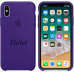 "APPLE SILICON CASE IPHONE X "" VIOLET"""
