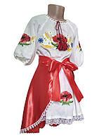 Комплект для девочки блузка + юбка с цветочным орнаментом
