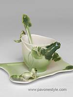 Фарфоровая чайная пара Лягушки (Pavone)