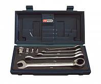 Набор рожково - накидных ключей трещёток 8-19mm 503.4650 KS Tools Германия