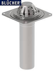 Покрівельна воронка з нержавіючої сталі BLUCHER, вертикальний випуск DN110  арт.402.104.110
