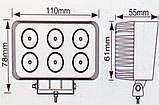 Светодиодная фара 09-18W (БЛИЖНИЙ), фото 8