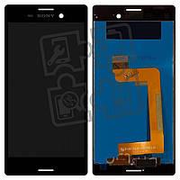 Дисплейный модуль (экран и сенсор) для Sony Xperia M4 Aqua Dual E2312, E2363, E2333, черный, оригинал