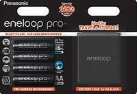 Аккумуляторы Panasonic Eneloop Pro + Case [BK-3HCDEC4BE]