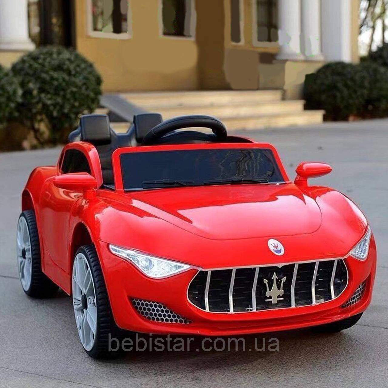 Электромобиль спорткар красный T-7637 RED для деток 3-8 лет с пультом мотор 2*25W с МР3